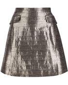 McQ by Alexander McQueen Metallic Mini Skirt - Lyst