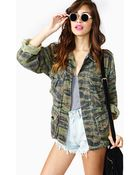 Nasty Gal Stealth Mode Camo Jacket - Lyst