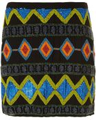 Topshop Tall Premium Embellished Skirt - Lyst