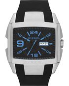 Diesel Steel and Silicone Watch - For Men - Lyst