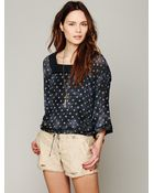 Free People Fp New Romantics Dot To Dot Blouse - Lyst
