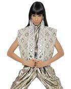 Balmain Embroidered Laminated Nappa Vest - Lyst