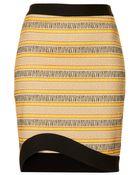 Topshop Curve Hem Animal Pencil Skirt - Lyst