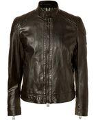 Belstaff Leather Beckland Cafe Racer Blouson Jacket  - Lyst