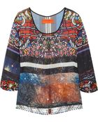 Clover Canyon Stained Glass Printed Chiffon Top - Lyst