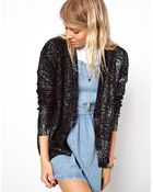 Asos Metallic Oil Slick Cardigan - Lyst