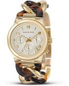 Michael Kors Stainless Steel And Tortoise Link Bracelet Watch, 38 Mm - Lyst