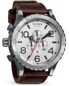 Nixon Men'S The 51-30 Chronograph Watch, 51.25Mm - Lyst