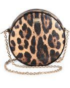 Dolce & Gabbana Leopard-Print Shoulder Bag - Lyst