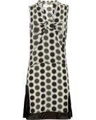 Marni Printed Silkblend Dress - Lyst