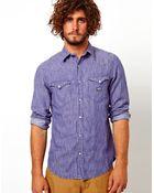 Ralph Lauren Denim Shirt with Bleach Wash - Lyst