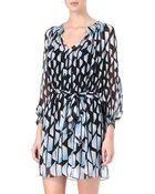 Diane von Furstenberg Printed Silk Dress - Lyst