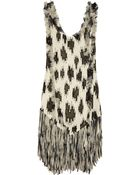 Just Cavalli Embellished Silkcrepe Dress - Lyst