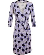 Diane von Furstenberg New Julian Two Printed Silk Wrap Dress - Lyst