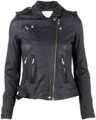 IRO Han Veste Cuir Leather Jacket - Lyst