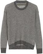 Enza Costa Striped Cashmere Sweater - Lyst