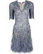 Matthew Williamson Mirror Lace Shift Dress - Lyst