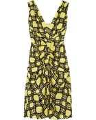 Marni Printed Ruched Silk Dress - Lyst