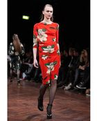 Vivienne Westwood Anglomania Draped Flower Print Silk Satin Dress - Lyst