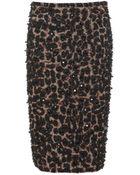 Burberry Prorsum Embellished Pencil Skirt - Lyst