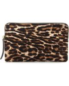 Lanvin Haircalf and Leather Clutch - Lyst
