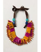 Anthropologie Tagua Fan Necklace - Lyst