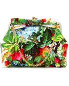 Dolce & Gabbana Print Brocade Framed Clutch - Lyst