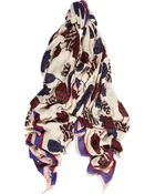 Marc By Marc Jacobs Mareika Tulip Printed Modal and Cashmereblend Scarf - Lyst