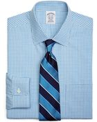 Brooks Brothers Supima Cotton Noniron Slim Fit Spread Collar Broadcloth Thick Thin Check Dress Shirt - Lyst