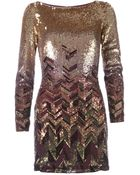 Matthew Williamson Bead Embellished Mini Dress - Lyst