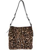 Lanvin Leopard Print Shoulder Bag - Lyst