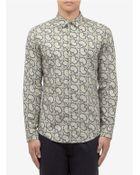 Maison Margiela Cotton Paisley Printed Shirt - Lyst