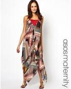 Asos Maternity Beach Dress in Tribal Print - Lyst