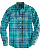 J.Crew Tall Tartan Shirt in Brunswick Blue - Lyst