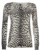 Balmain Leopard Print Jumper - Lyst