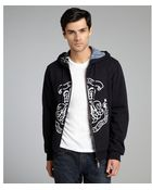 Etro Black And White Cotton Reversible Graphic Hoodie - Lyst