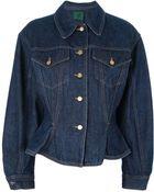 Jean Paul Gaultier Fitted Denim Jacket - Lyst