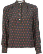 Céline Vintage Patterned Shirt And Skirt Suit - Lyst