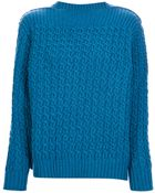 Stella McCartney Cable Knit Sweater - Lyst
