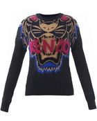 Kenzo Flying Tiger Intarsiaknit Sweater - Lyst