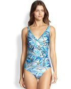 Gottex One-Piece Sierra Surplice Swimsuit - Lyst
