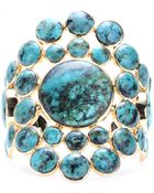 Isharya Gold-Plated Cuff With Turquoise - Lyst