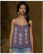 Denim & Supply Ralph Lauren Sleeveless Embroidered Peasant Camisole - Lyst