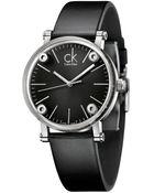 Kenneth Cole Watch Womens Swiss Cogent Black Leather Strap 36mm K3b231c1 - Lyst