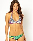Maaji Printed Halter Bikini Set with Cut Out Detail - Lyst