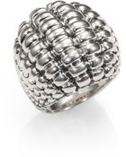 John Hardy Bedeg Sterling Silver Large Dome Ring - Lyst