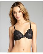 Natori Black And Grey Floral Lace Full Figure Bra - Lyst