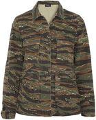 A.P.C. Camouflageprint Cottoncanvas Jacket - Lyst