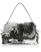 Fendi Baguette Fringed Leather Shoulder Bag - Lyst