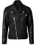 Marc Jacobs Cottonleather Jacket - Lyst